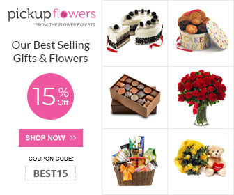 15% Off on Our Best Selling Gifts & Flowers