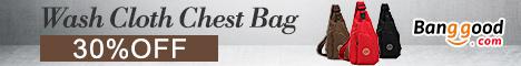 Wash Cloth Chest Bag