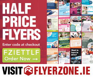 Half price flyers at Flyerzone.ie