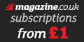Magazine subscriptions from �1 at magazine.co.uk