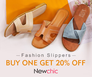 20% Off for Women Solid Color Letter Strap Chic Flats Slippers
