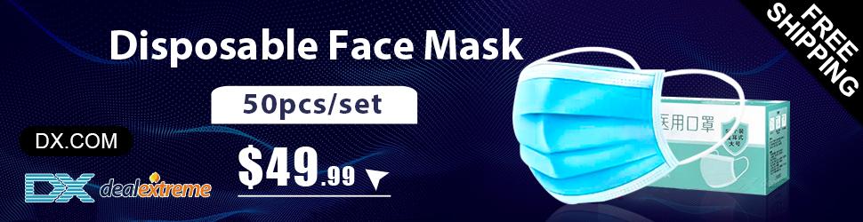 50pcs Disposable Hispital Face Masks