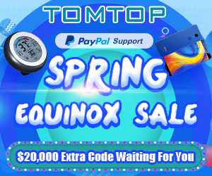 TOMTOP : Spring Equinox Sale, Up To 90% Off