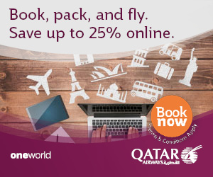 Book, pack, and fly. Save up to 25% online. Qatar Airways