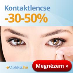 Kontaktlencsék 30-50%-kal olcsóbban mint a boltokban! AJÁNDÉK, 990 Ft értékű kontaktlencse-ápolófolyadék! Nézze meg most »