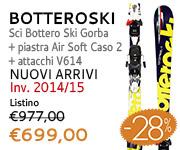 Sci Bottero Ski Gorba + piastra Air Soft Caso 2 + attacchi V614 scontati a 699,00€ da Botteroski