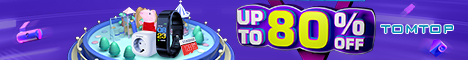 TOMTOP AUTUMN SALE : UP TO 80% OFF