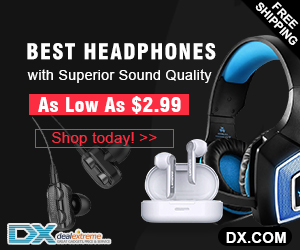 DealeXtreme Big Blowout! Latest Headphones Starts from €2.5