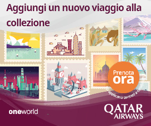 Raddoppia l'emozione. Viaggia in 2 in Business Class da 3.279€ su QatarAirways