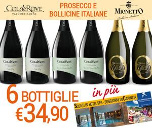 Assaggio Colderove e Mionetto a soli € 34,90