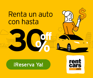 Renta un auto con hasta 30% Off