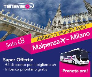 Bus Terravision Milano Malpensa