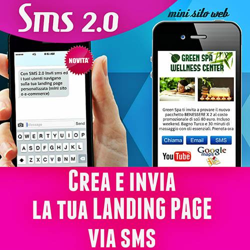 SMS 2.0 - Crea e invia landing page via SMS