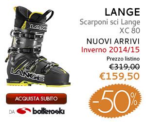 Scarponi sci Lange XC 80 inoltre a 159,50€ da Botteroski