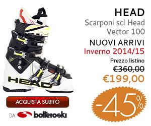 Scarponi sci Head Vector 100 in offerta a 199,00€ da Botteroski