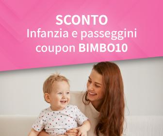 Infanzia e Passeggini sconto coupon BIMBO10