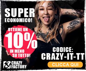 %name Crazy Factory: piercing in saldo fino al 70%! (+ codice sconto 10%)