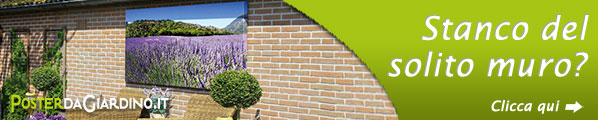 Siete stanchi di vedere il solito muro grigio nel vostro giardino?