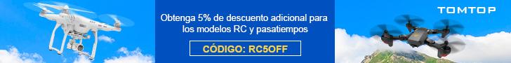 Obtenga 5% de descuento adicional para modelos y pasatiempos RC con código: RC5OFF
