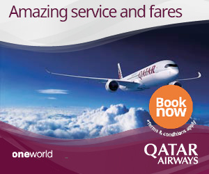 Qatar Airways, book now and enjoy your 4-star journey on Qatar Airways