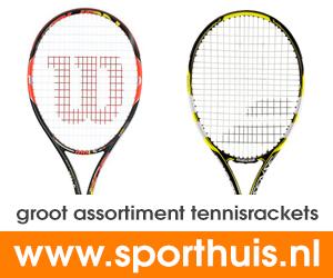 De grootste collectie tennisrackets van Nederland!