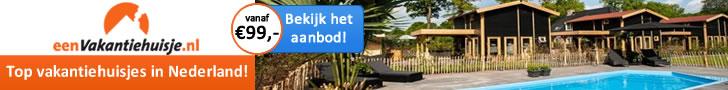 voordelige vakantiehuisjes in Nederland 2018