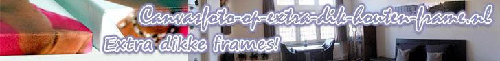 Foto op canvas met extra dik frame
