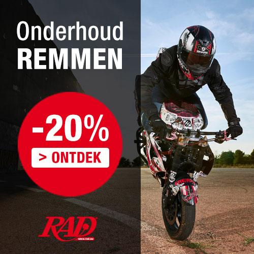 20% korting op ALLE motorfietslaarzen en motorfietsschoenen