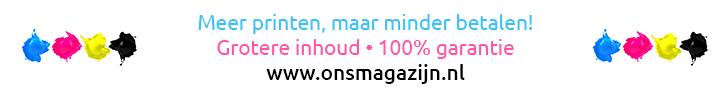 Onsmagazijn.com/nl – 15% korting op alle huismerk inkjet- en tonercartridges