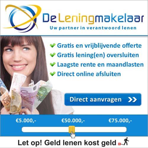 Klik hier voor de korting bij De-leningmakelaar.nl