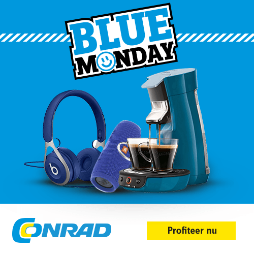Blue Monday aanbiedingen elektronica bij Conrad