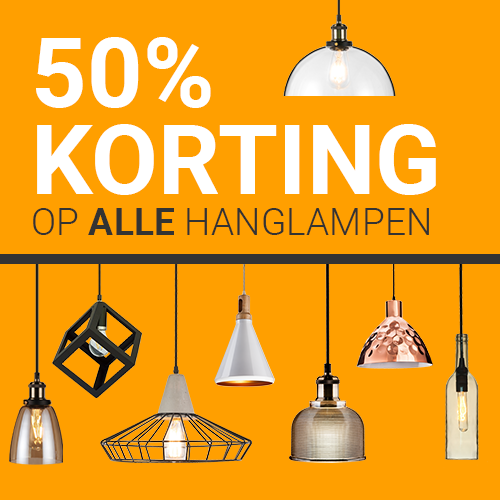 50% korting op alle hanglampen