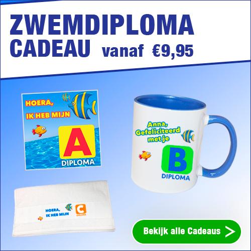 De leukste zwemdiploma cadeaus ontwerp je op Watzalikkopen.nl