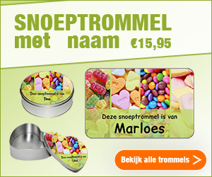 Snoeptrommel bedrukken met naam - Watzalikkopen.nl