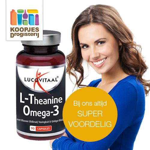 Lucovitaal L-theanine Omega 3 in de aanbieding