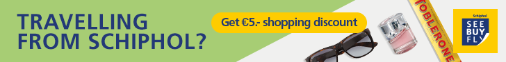 Schiphol Airport See Buy Fly offer €5 shopping discount.