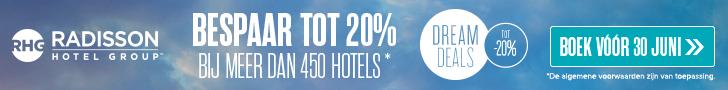 Radisson Hotels NL – tot 20% korting