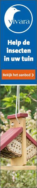 Lok vlinders en bijen naar uw tuin: bestel Vivara insectenhuisjes!