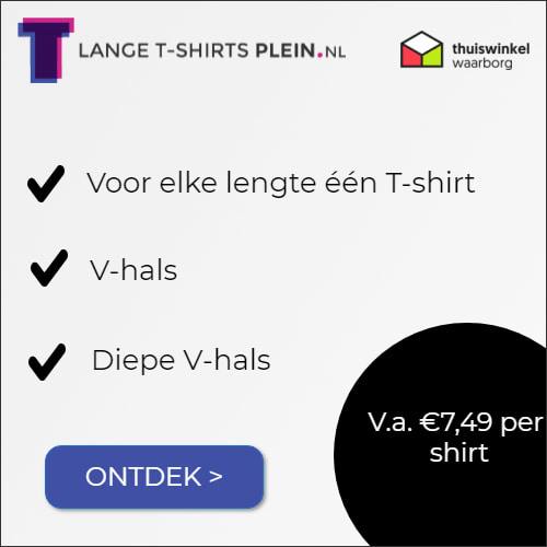 Koop je lange t-shirts online bij Lange T-shirts Plein.