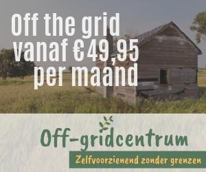 off grid hutje in het bos