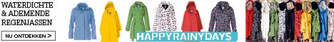 Grote collectie regenjassen HappyRainyDays