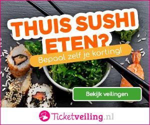 sushi met korting
