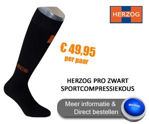 Herzog Pro Sportcompressiekousen zwart
