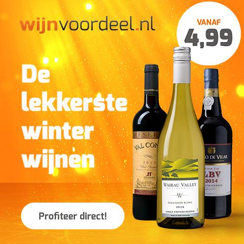 Wijnvoordeel 50% korting op alles m.u.v. aanbiedingen!