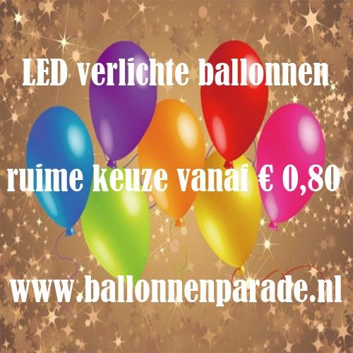 led verlichte ballonnen vanaf € 0,80