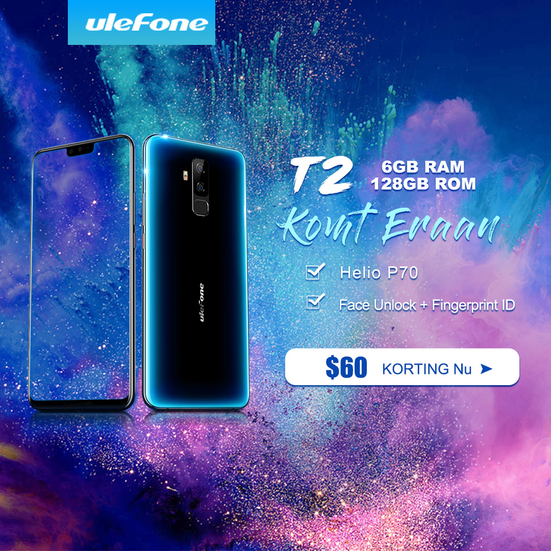 Snap €54.45 off now for new Ulefone T2