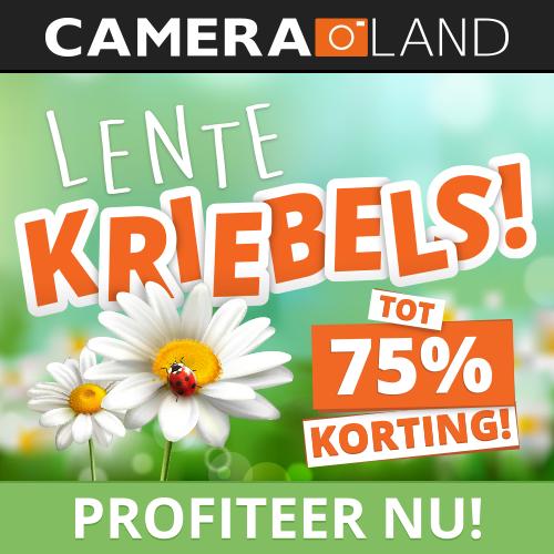 Lentekriebels bij Cameraland tot 75% korting