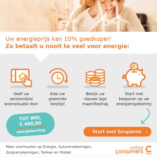 Bespaar nu tot E 400,00 op uw energierekening!