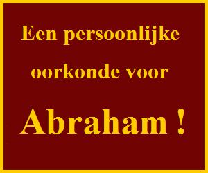 abraham oorkonde
