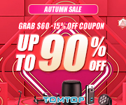 Autumn Special Offer, Exclusive Discount, Get It Free By Sharing -Tomtop.com